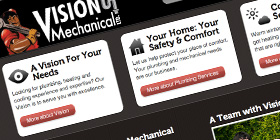 Screenshot of Vision Mechanical website